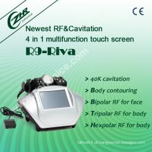 RF + Cavitação que Slimming o equipamento R9-Riva da beleza