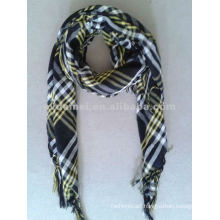 Yarn-dyed polyester paisley square scarf