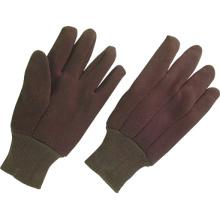 Gant de travail en coton doublé de jersey marron de 8 oz (2101)
