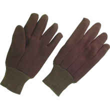 Luva do trabalho do algodão do forro de Jersey de 8oz Brown (2101)