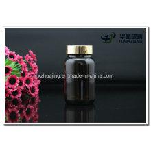 Amber 150g Pharmaceutical Glass Bottles with Aluminum Cap
