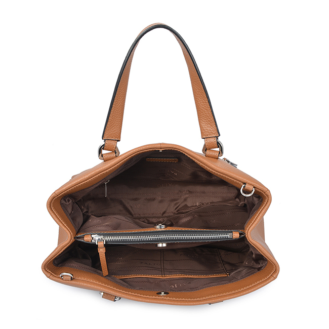 Women fashion leather handle business tote bag