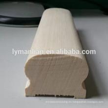 balaustre escalera de madera de roble blanco sólido