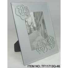 Transparent Glass Beads Picture Frame