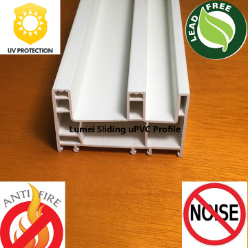 Deslizando uPVC Profile Door Frame PVC Window Frame