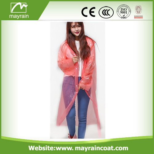 Discount Sale PE Disposable Raincoat