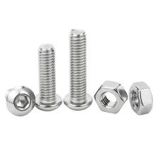 Stainless Steel 201 M2 M3 M4 M5 M6 M8 M10 Mushroom Head Sems Hex Socket Bolt Round Head Nuts and Bolts