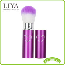 beauty synthetic hair retractable brush with private label on handle