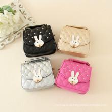 Babymodetasche Kinder Mädchen Handtasche Cartoon Kaninchen Taschen günstigen Preis hohe Qualität Kreuzkörper Tote Schulter Geldbörse