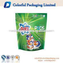 Hersteller benutzerdefinierte Waschpulver Reißverschluss Verpackung Waschmittelbeutel