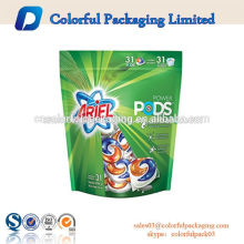 Manufacturer custom washing powder ziplock packaging detergent bag