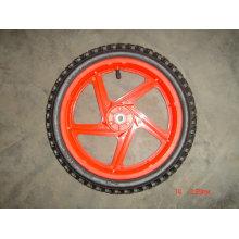 """Roda semi-pneumática de 14x1,75 """"com jante de plástico"""