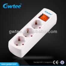 Prise manuelle électrique à trois voies du type DIN type GT GT-6143