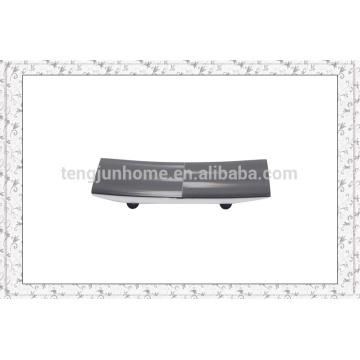Eco Friendly Black Imitation Horn Gesicht Handtuch Tablett mit radialen Muster