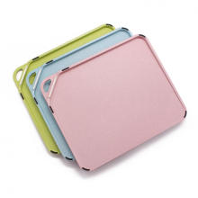 plastic cutting board with tray