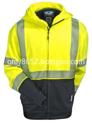 Yellow Tech Double Thick Class 3 Full Zip Sweatshirt