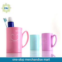 Large Plastic Kids Use Cute Travel Mugs