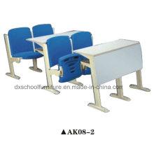 Mesa de escola de alta qualidade e cadeira para sala de aula de passo