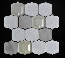 Lanterna grande forma vidro porcelana misturadas mosaico