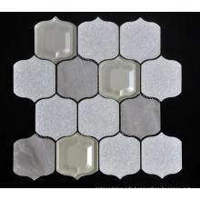 Grande lanterne forme verre porcelaine mélangé mosaïque