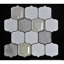 Big Lantern Shape Glass Porcelain Mixed Mosaic