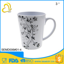 cheap plastic melamine hansle cups for coffee or tea