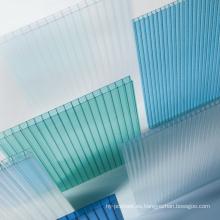 Hoja de policarbonato hoja de múltiples paneles hoja de techo tragaluz