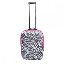 Zebra Pattern Expandable Wheeled Trolley Luggage