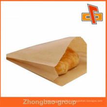 Sac en papier kraft sac à provisions réutilisable avec gousset latéral