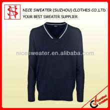 Mens 100% Merinowolle Pullover Pullover