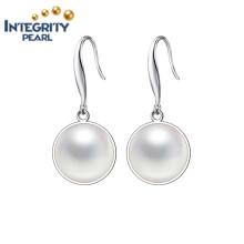 Qualitäts-Perlen-Ohrring AAA 9-10mm Knopf-Perlen-Ohrringe 925 Silber