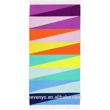 Custom Velour Sunny life Colorful Beach Towel BT-348 China Supplier