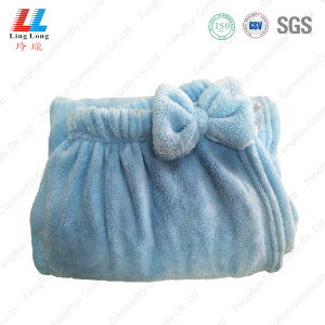 Bowknot microfiber bath body towel