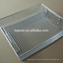 Cesta de limpeza / esterilização de desinfecção de aço inoxidável