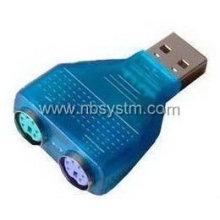Adaptador USB a PS2 con chip, teclado y ratón se pueden utilizar simultáneamente