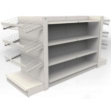 Metal double-sided supermarket goods display rack