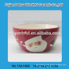 2016 attractive christmas decoration ceramic bowl in santa claus shape