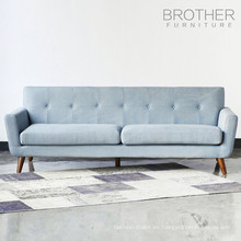 Sala de estar 3 plazas moderno sofá de madera de diseño