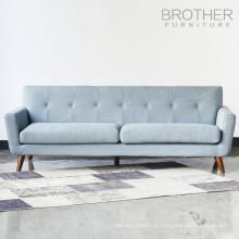 Sala de estar 3 lugares moderno sofá de madeira design