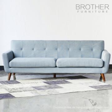 Wohnzimmer 3-Sitzer moderne Holz Sofa-Design