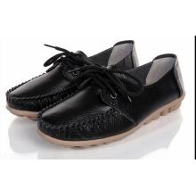 Damen Fahrschuh Moccasin-Gommino Freizeitschuhe Leder Schuhe (BRD0615-11)