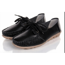 Ladies Driving Shoe Moccasin-Gommino Casual Shoes Leather Shoes (BRD0615-11)