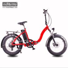 Neumático gordo 2017 de la bici eléctrica del nuevo diseño 48V1000W 20 '', e-bike plegable de China