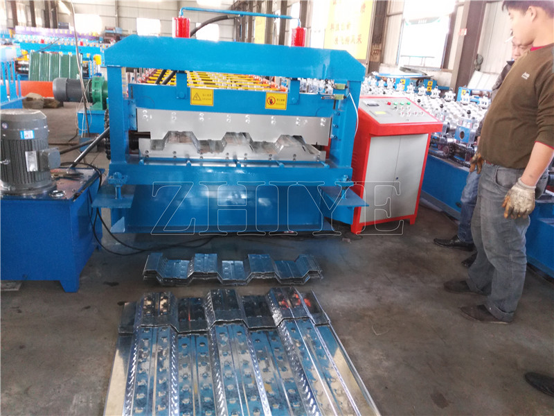 PLC Sterowanie PPGI Decking Floor Panel Making Machine