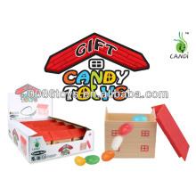 Animal transparente em brinquedos de doces casa