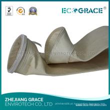 Saco de filtro de 5 mícrons / filtro de saco do PPS da malha para a filtragem industrial