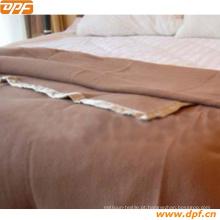 Manta de lã de luxo de cor sólida para uso em hotel