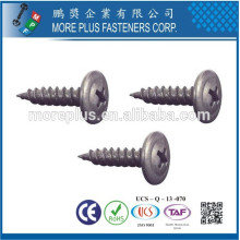 Made in Taiwan Stainless Steel M4 Sliver Umbrella Head Self Tapping Screw