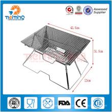 grade profissional do aço inoxidável do tamanho opcional grade, barbecue do carvão vegetal com rede, grade do BBQ do tijolo