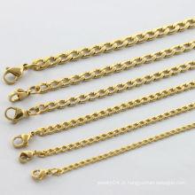 Atacado alibaba.2014 moda banhado a ouro colar de aço inoxidável, charmoso para colar homens